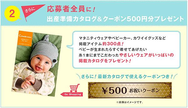 ラップクラッチ 応募者全員に出産準備カタログ&クーポン500円分プレゼント