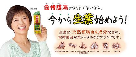 歯槽膿漏予防に生葉