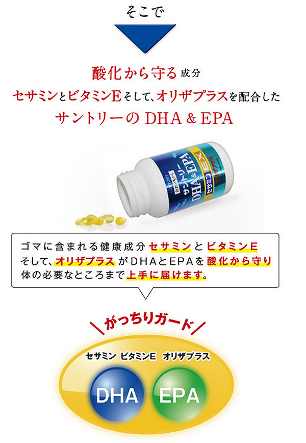 酸化を防ぐセサミンEXやオリザプラスを追加