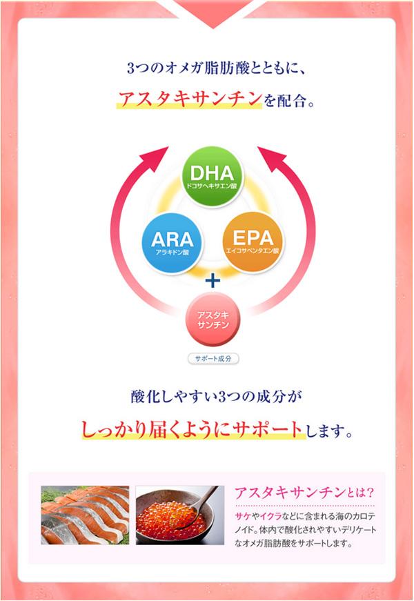 サントリー オメガエイドはアスタキサンチン酸も配合し酸化防止